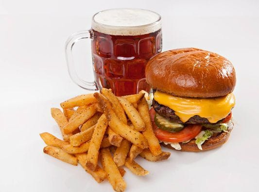Cold Beers & Cheeseburgers | Raise a glass all May long and fill it with Dos Equis ($4 pint, $5 mug).Details: 6718 W. Deer Valley Road, Glendale. 623-213-7622. Also, 4604 S. Higley Road, Gilbert. 480-638-9141. Other locations at coldbeers.com.