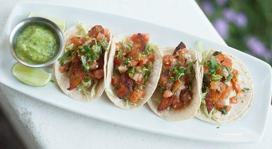 The Vig's taco platter.
