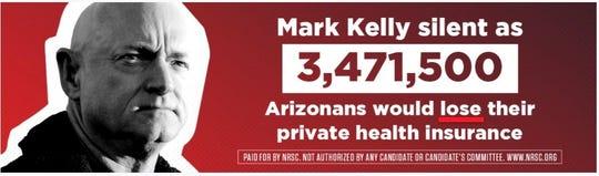Republican billboard along freeway hits Mark Kelly over health care