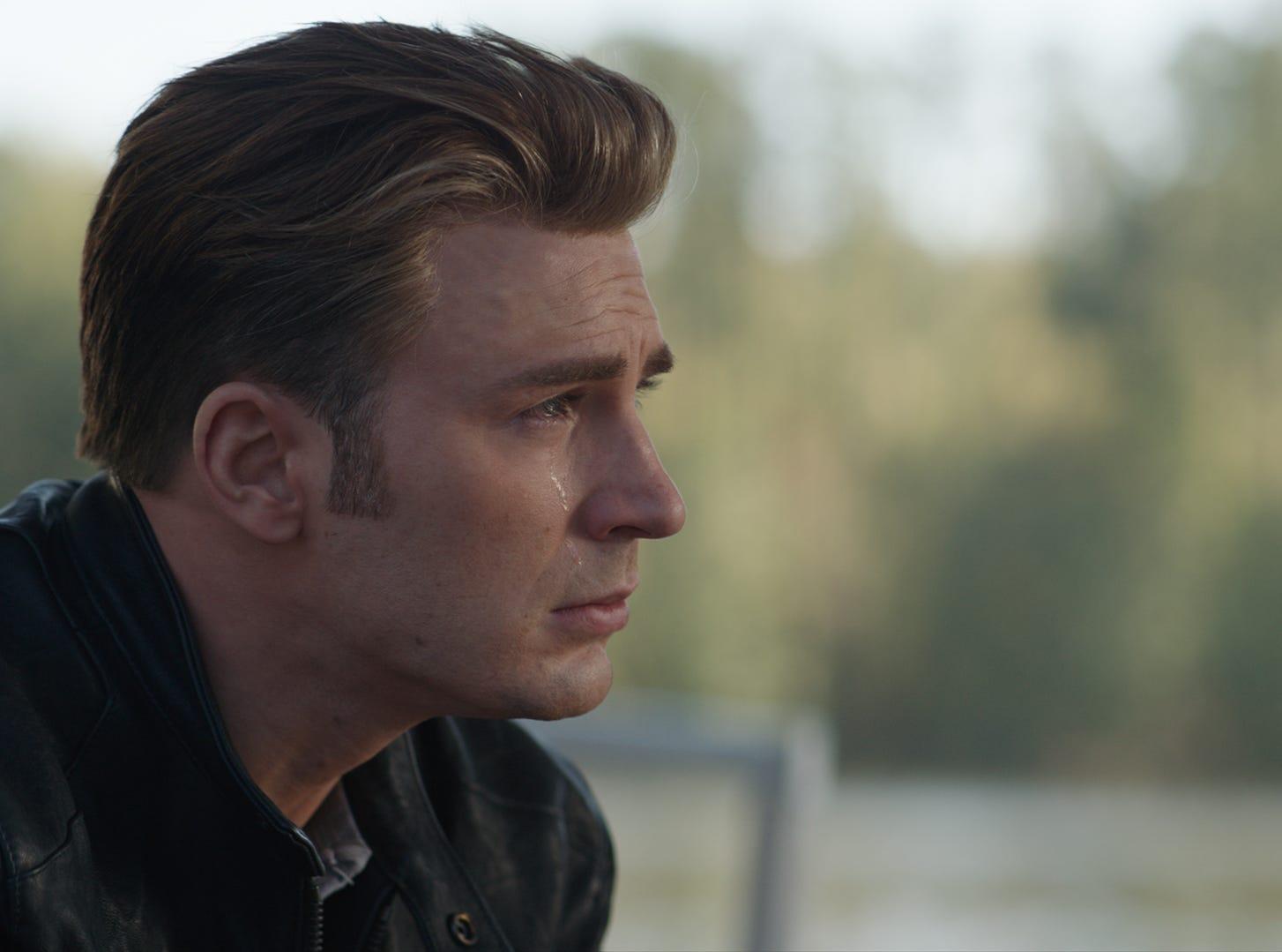 """In """"Avengers: Endgame,"""" Steve (Chris Evans) deals with his feelings."""