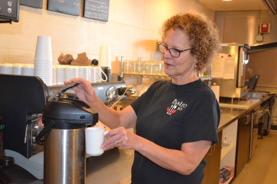 """Babette """"Babs"""" Klacik brings years of experience to Bistro 163. She has cooked for and managed local restaurants, owns and operates a food truck, and is a former health inspector for the Ottawa County Health Department."""