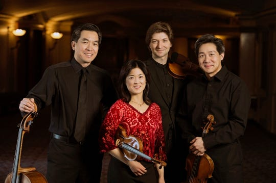 Ying Quartet, David Ying (cello), left to right, Janet Ying (violin), new first violinist Robin Scott and Phillip Ying (viola) will perform at the Howland Cultural Center in Beacon, April 28.