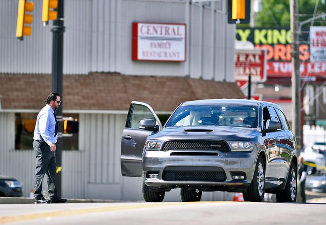 York City Police investigate a shooting on N. George Street, Monday, April 22, 2019.John A. Pavoncello photo