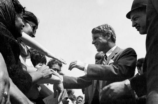 Sen. Robert F. Kennedy, an icon of American liberalism and a figure of 20th century American politics, visited Richmond on April 29, 1968, eight years to the day after his famous brother had. Kennedy shook hands that day accompanied by Richmond Mayor Byron Klute.
