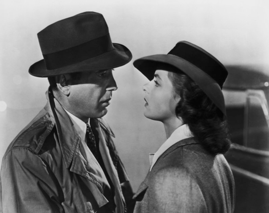 A classic scene from Casablanca.