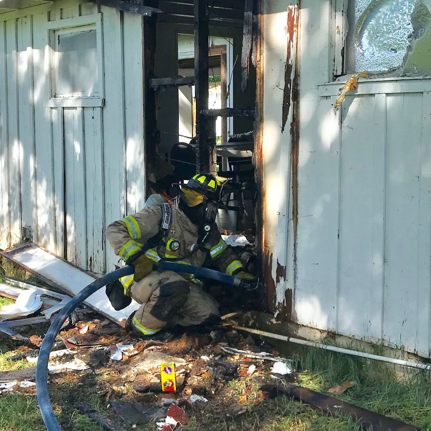 Fire damages church in east Redding