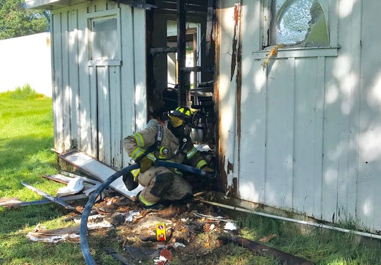 Redding Fire Battalion Chief Eric McMurtrey said a fire caused minimal damage to the exterior of a building at Hope Baptist Church on Churn Creek Road in Redding.