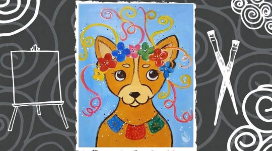 """Painting with a Twist, 2825 Southwest Blvd., will host their """"Cinco de Mayo Pup"""" event Sunday, May 5, 2019."""