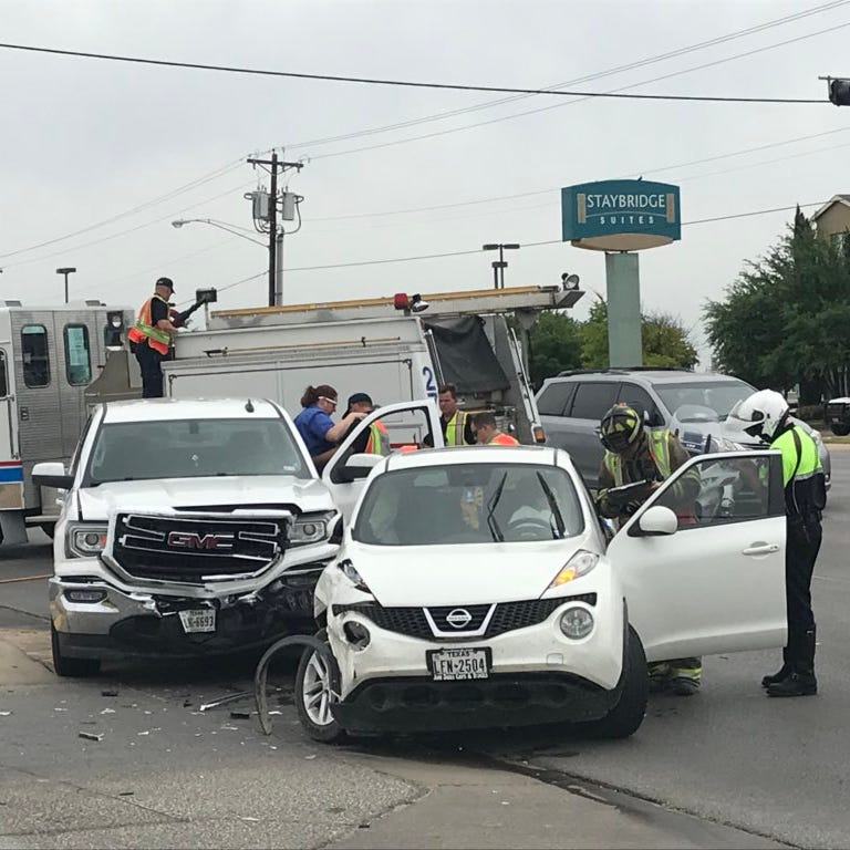 Two lunchtime wrecks Monday keep San Angelo first responders busy
