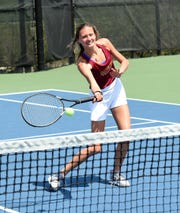 Freshman Kathryn Allen is a member of the Salisbury University women's tennis team.