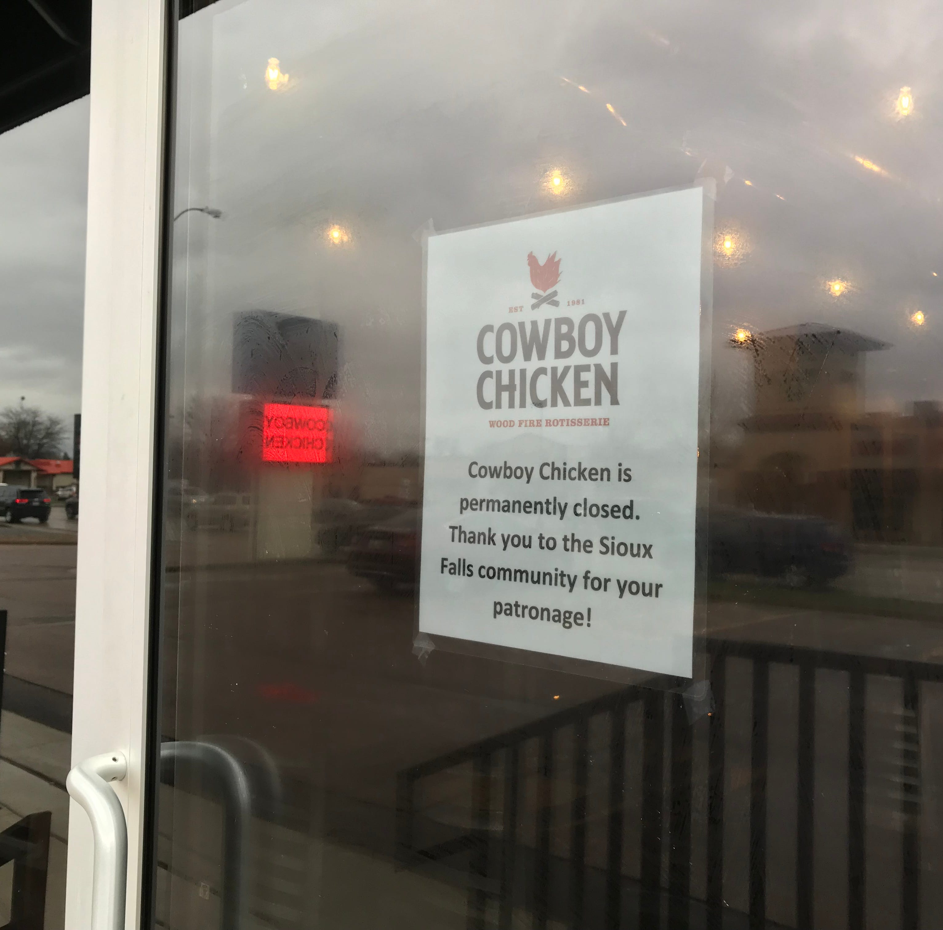 Cowboy Chicken restaurant in Sioux Falls closes