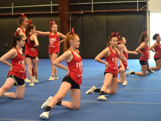 The Valley Emeralds FAME All-Stars junior cheer team practiced Wednesday, April 17, in preparation for the The Summit competition at ESPN's Wide World of Sports Complex in Walt Disney World.