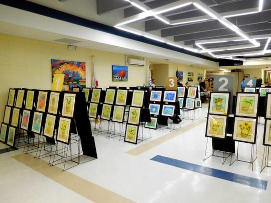 Maclay Lower School art exhibit.