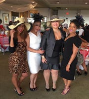 Natasha Harrison, left, Tere Bloomfield, Sula Forbes and Mina Pintard enjoy the 2017 tea to benefit The PACE Center for Girls.