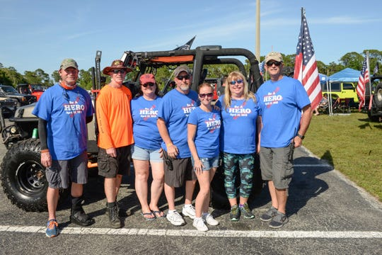 Jupiter Jeep Club members Dan Ganzel, left, Brian and Rita Kinberger, Matt and MaryBeth Black, and Leisa and Herb Price.
