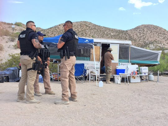 Sunland Park, New Mexico, police spoke to members of the United Constitutional Patriots on Monday. The group's leader was in federal court Monday.