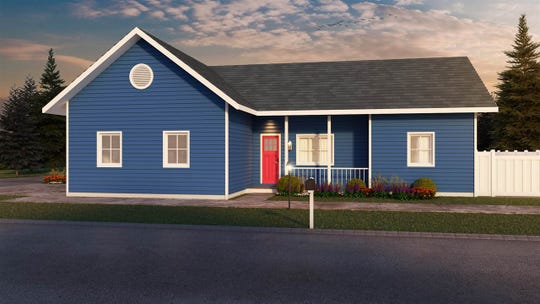 A rendering of what the Sherman Street bungalows will look like.