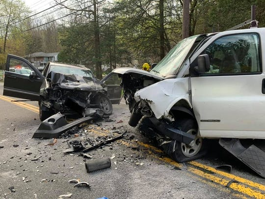 A head-on crash occurred on Red Mill Road in Cortlandt on April 22, 2019.