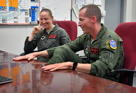 Lt. Col. Elia Hickie and her husband, Lt. Col. Mark Hickie, talks about being the first husband and wife squadron commanders for Sheppard Air Force Base's 80th Flying Training Wing. Elia commands the 89th Flying Training Squadron and Mark leads the 88th Fighter Training Squadron.