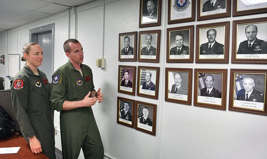 Lt. Col. Mark Hickie and Lt. Col. Elia Hickie are the first husband and wife squadron commanders at Sheppard Air Force Base. Mark commands the 88th Fighter Training Squadron and Elia is over the 89th Flying Training Squadron.