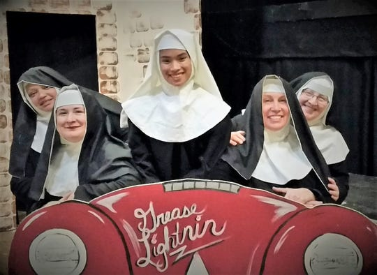 """The cast of """"Nunsense"""" includes Margie Lee, Jillian V. VonGunten, Katelyn Baughman, Cindy Houpt and Sheryl Wise."""