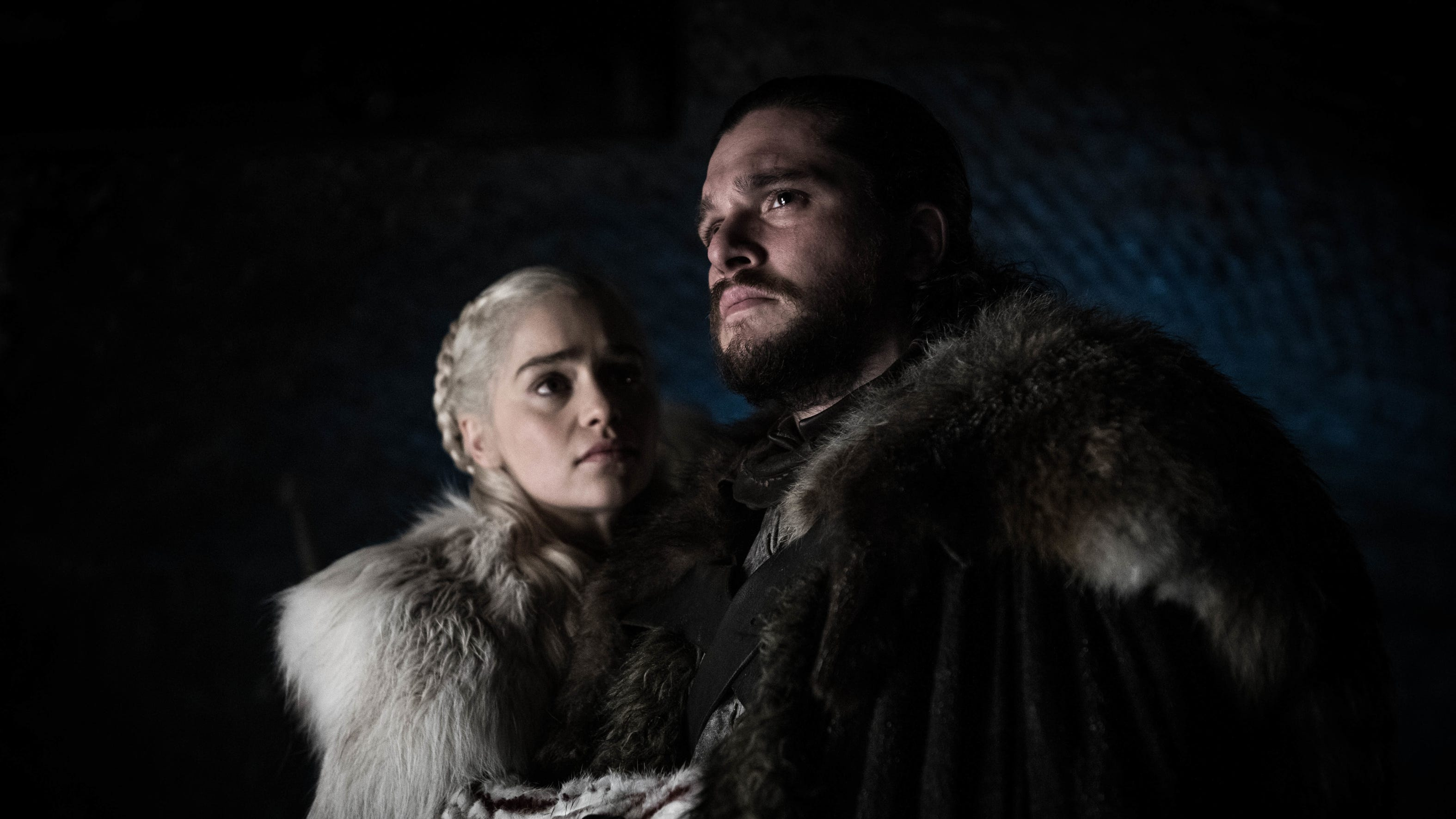 "Kit Harington as Jon and Emilia Clarke as Dany on ""Game of Thrones."""