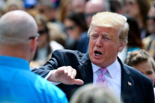 President Donald Trump says he's beneath audit.