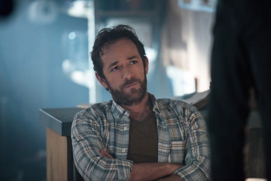 "Actor Luke Perry portrayed Fred Andrews on The CW's ""Riverdale."""