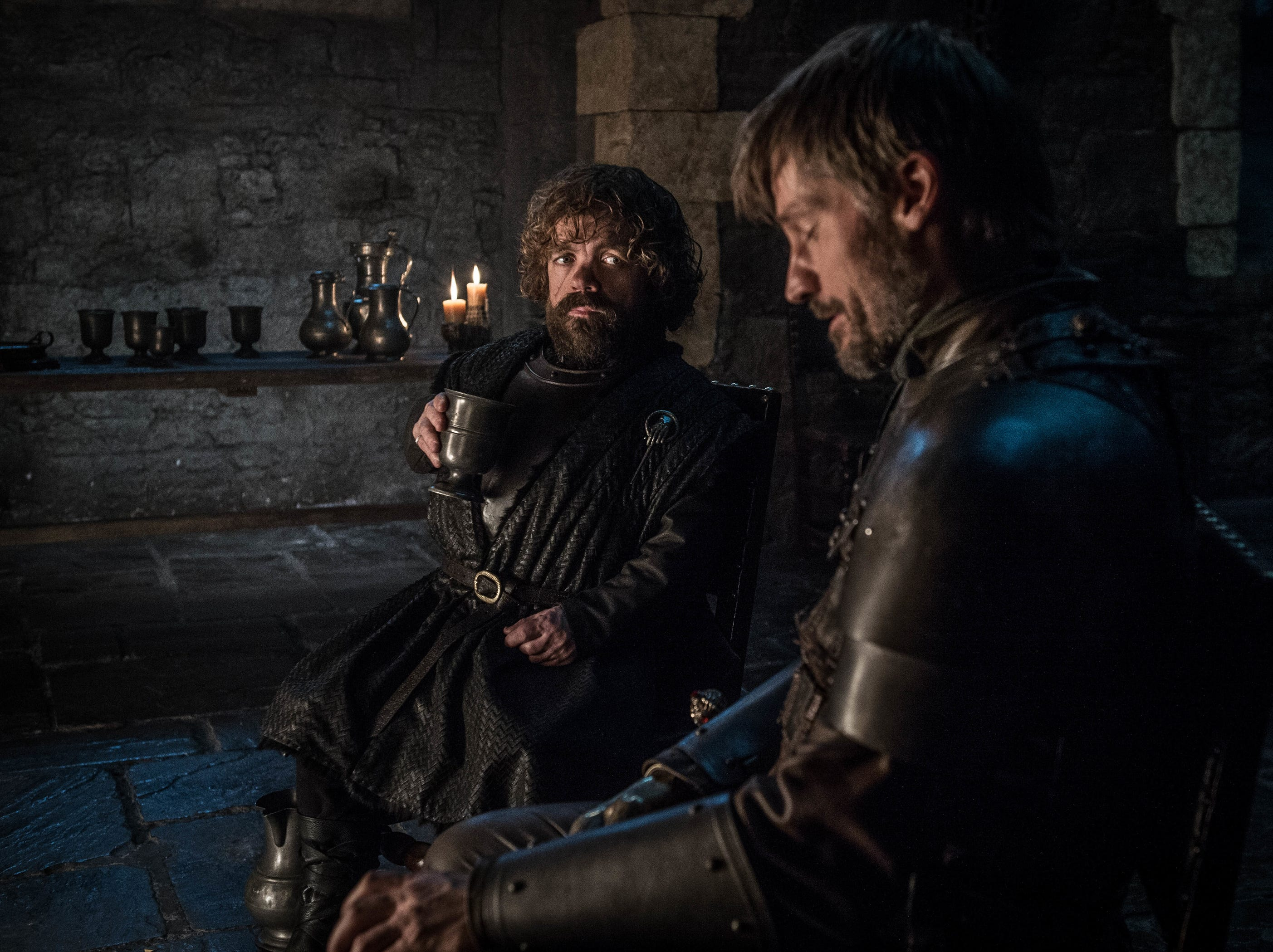 Peter Dinklage as Tyrion Lannister, left, and Nikolaj Coster-Waldau as Jaime Lannister on 'Game of Thrones.'