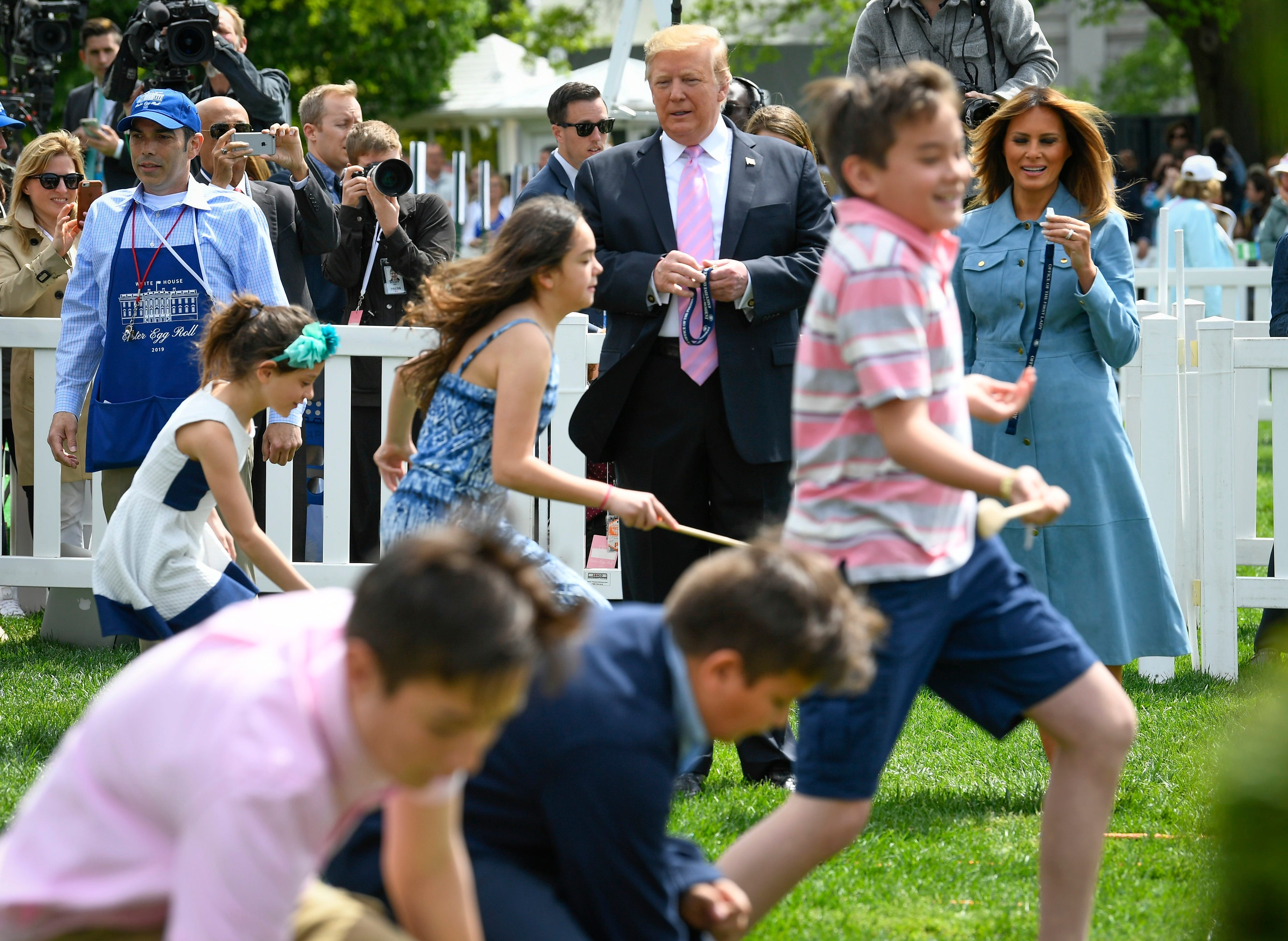 Melania Trump hosts the 141st annual White House Easter Egg Roll