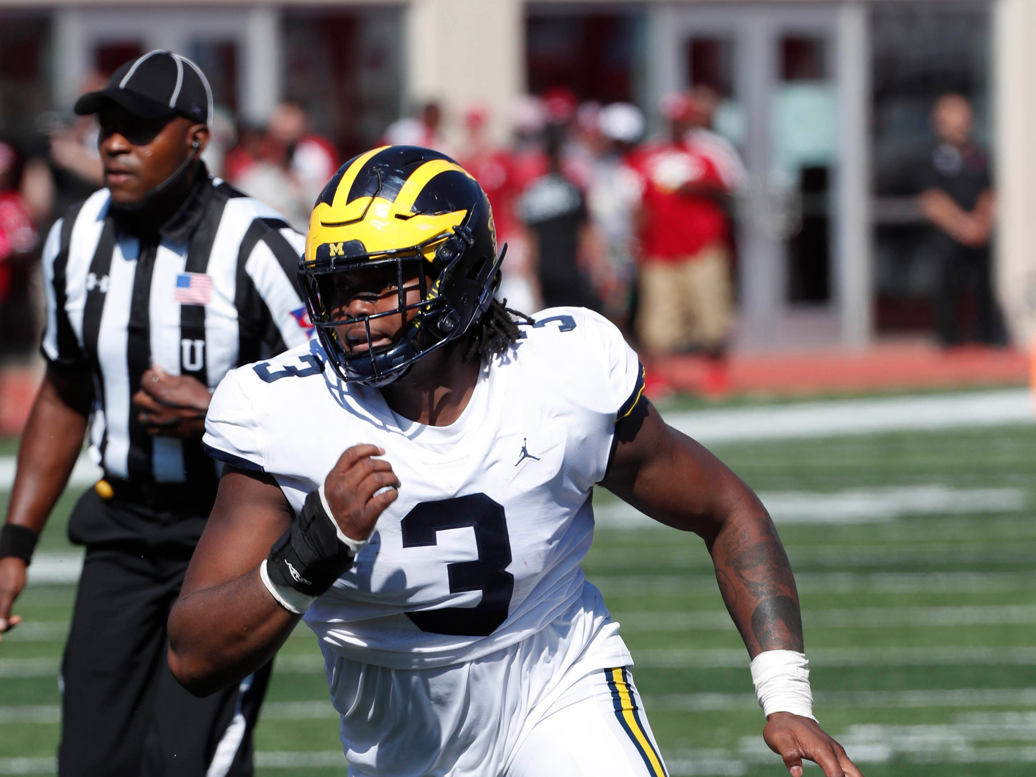 17. Giants (from Browns) - Rashan Gary, DE, Michigan