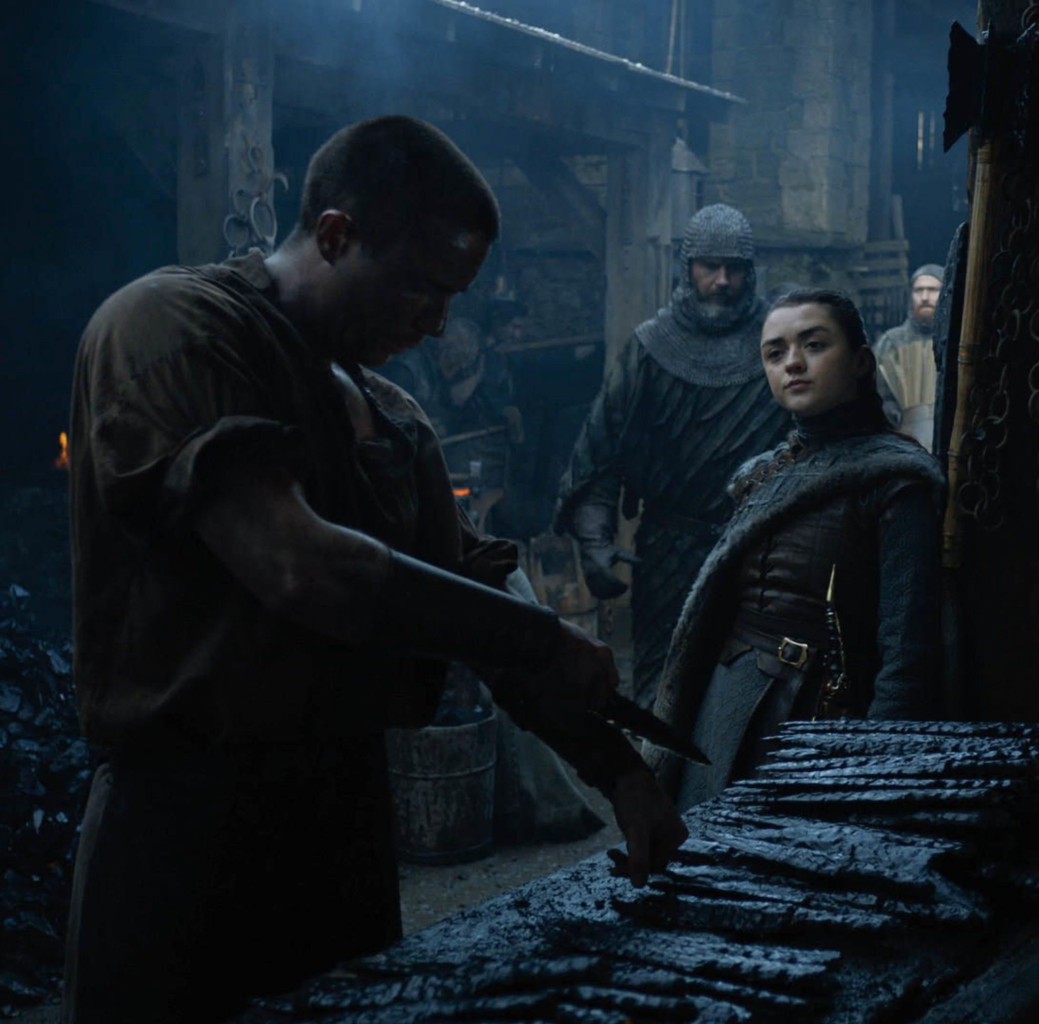 Joe Dempsie as Gendry, left, and Maisie Williams as Arya Stark on 'Game of Thrones.'