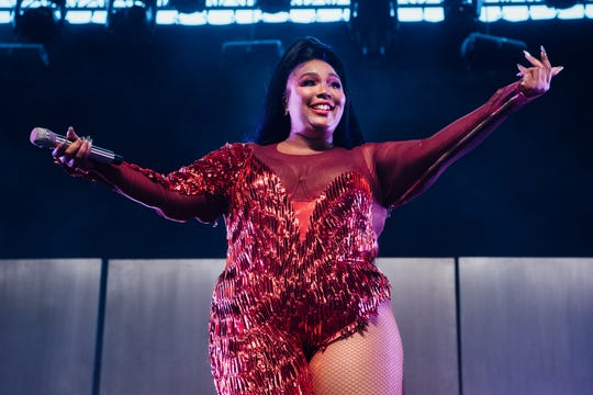 Lizzo performs onstage at the 2019 Coachella Valley Music and Arts Festival on April 21, 2019.