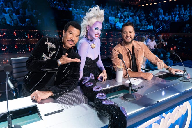 "Katy Perry channeled ""Little Mermaid"" villain Ursula on the Disney night episode of ""American Idol"" Sunday."