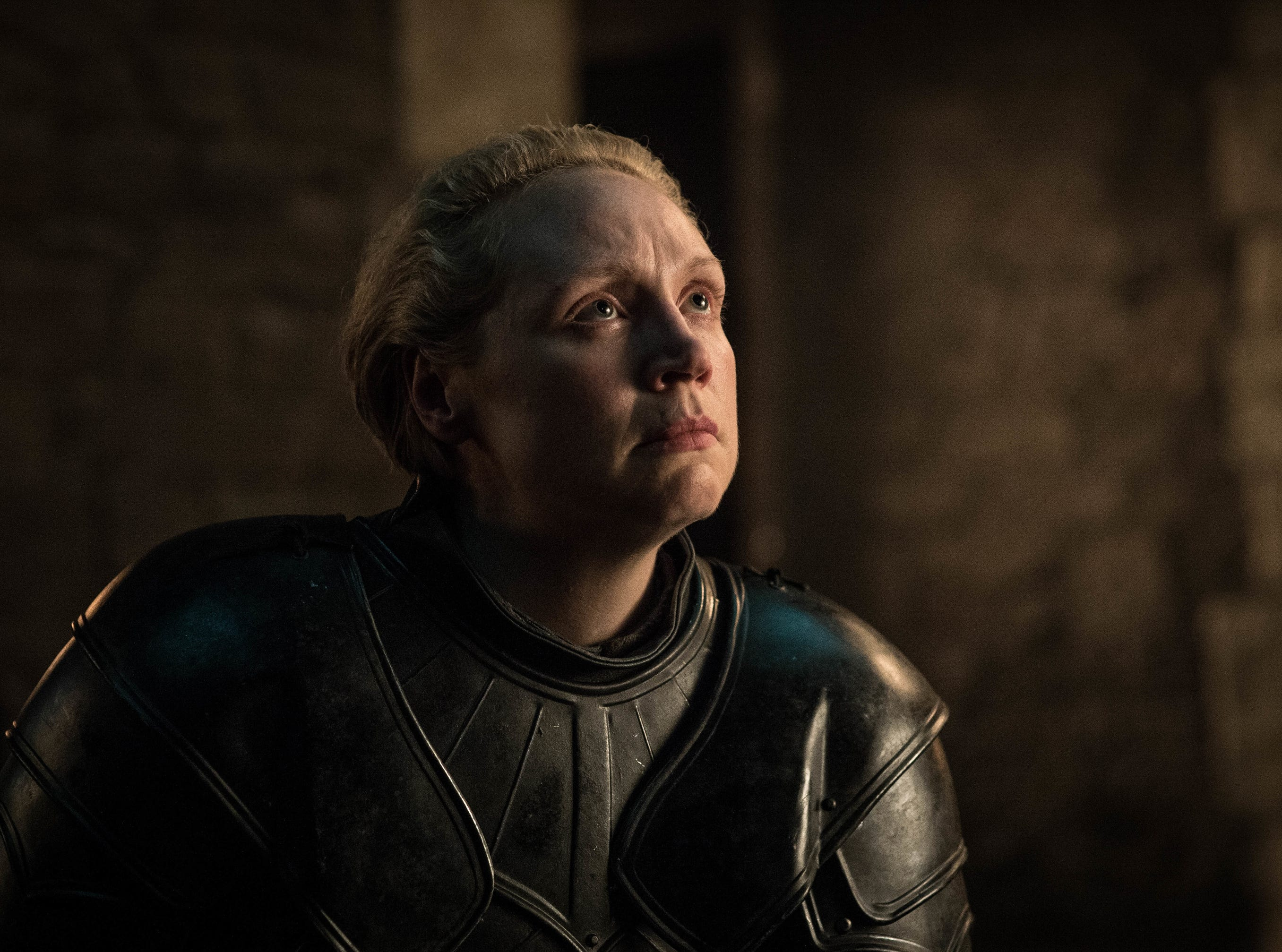 Gwendoline Christie as Brienne of Tarth on 'Game of Thrones.'