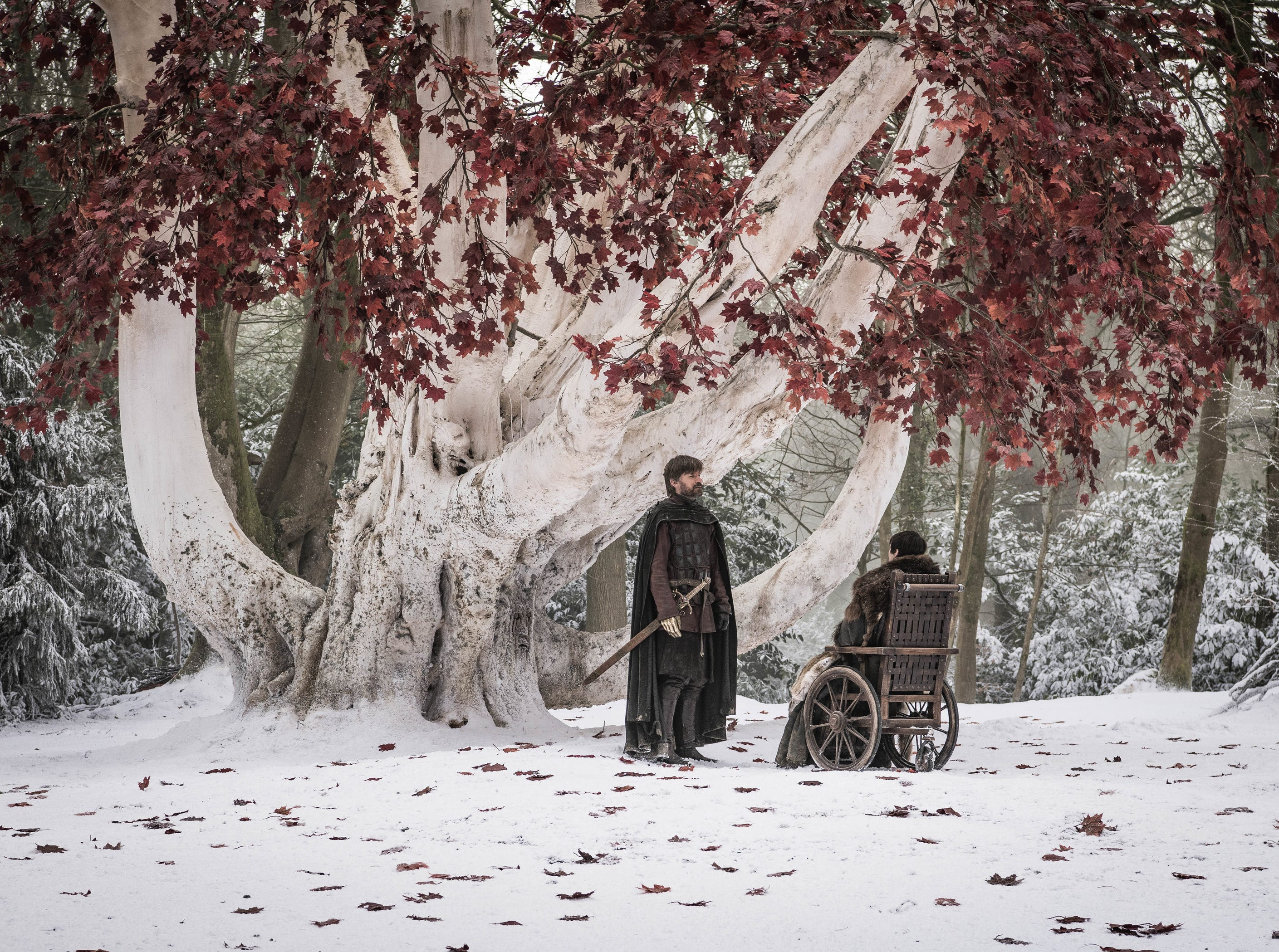 Nikolaj Coster-Waldau as Jaime Lannister, left, and Isaac Hempstead Wright as Bran Stark in 'Game of Thrones.'
