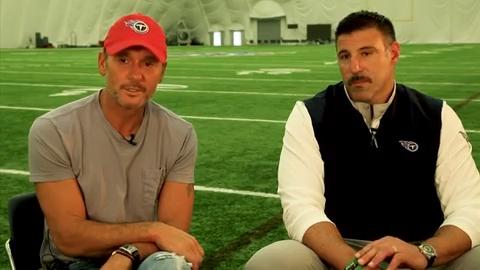 Tim McGraw, Mike Vrabel prep for NFL Draft