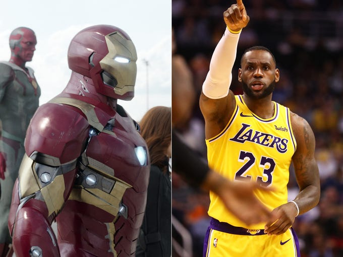 The Avengers and their sports counterparts