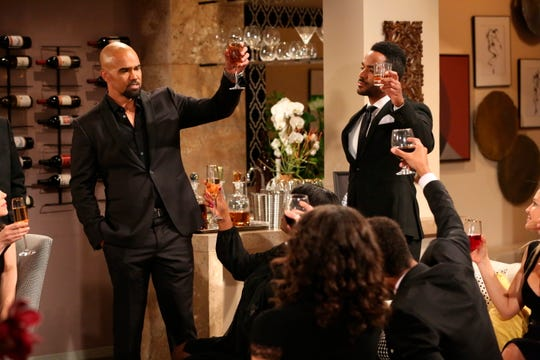 "Malcolm (Shemar Moore) honors the memory of Neil (played by the late Kristoff St. John) in ""The Young and the Restless."""