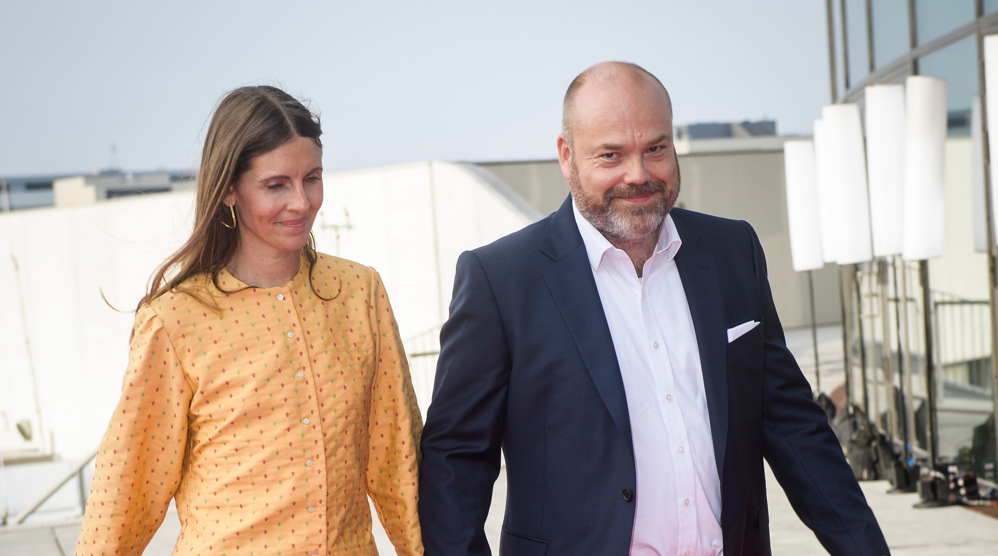 ASOS billionaire Anders Holch Povlsen (R) and his wife Anne Holch Povlsen (L) arrive at the celebration of the 50th birthday of Crown Prince Frederik of Denmark in Royal Arena in Copenhagen, Denmark, 27 May 2018 .