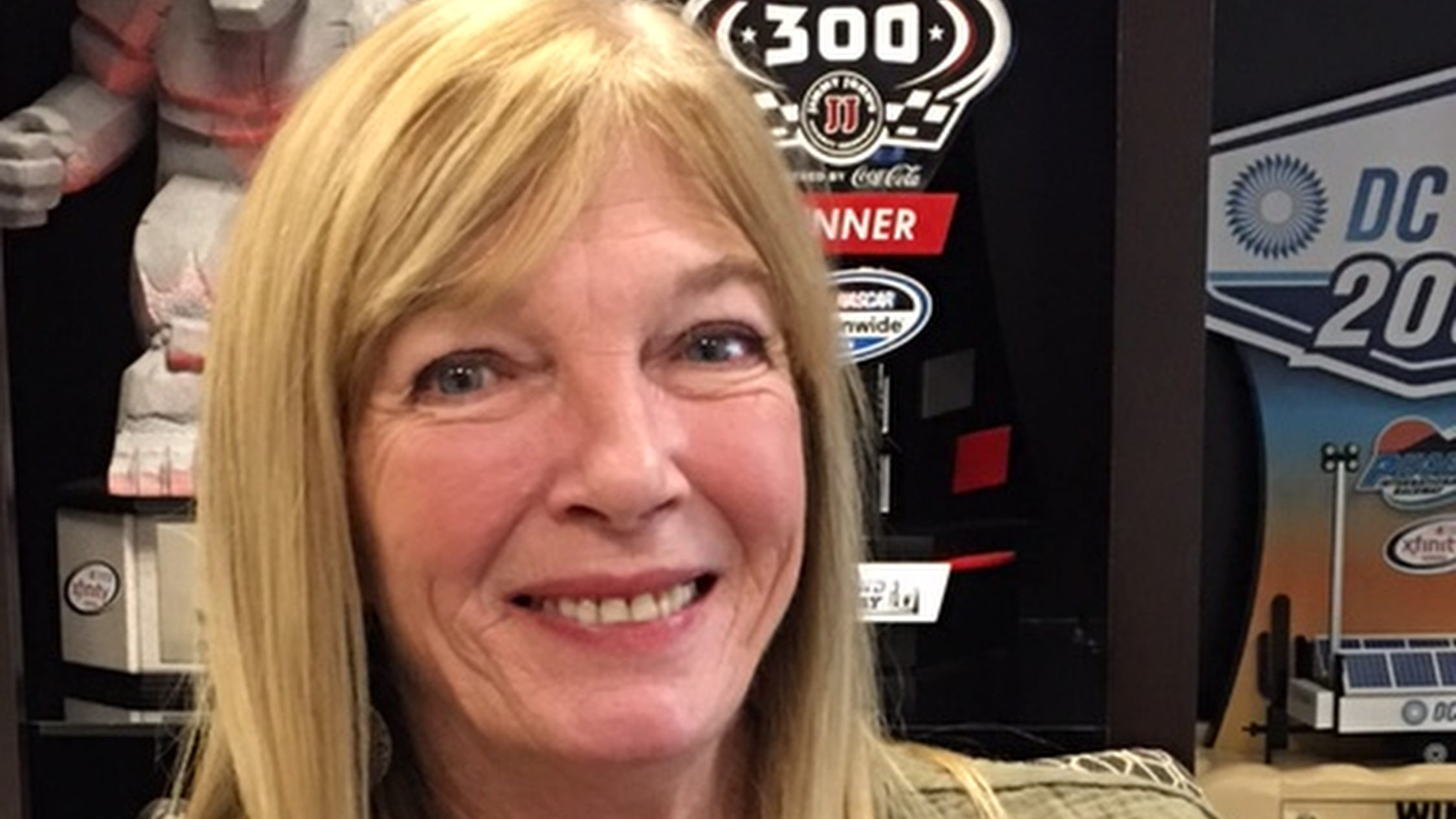 """Brenda Jackson says of son Dale Earnhardt Jr.: ''After watching what he went through last year (battling concussions and after-effects), I wouldn't even have started this year. You watch your 42-year-old son, and he can't even walk a straight line. He gets on a bicycle, and he can't keep his balance. He can't drive a car, although he drives one for a living."""""""