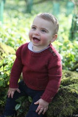 The pictures were taken by his mother, Duchess Kate of Cambridge, at their country home in Norfolk to mark his first birthday.