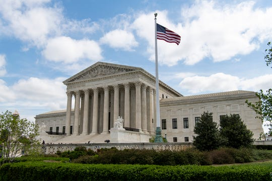 4/22/19 10:06:24 AM -- Washington, DC, U.S.A  -- The U.S. Supreme Court hears arguments in a case that could determine whether taxpayer payments to businesses can be considered confidential information on April 22, 2019.  --    Photo by Hannah Gaber, USA TODAY staff