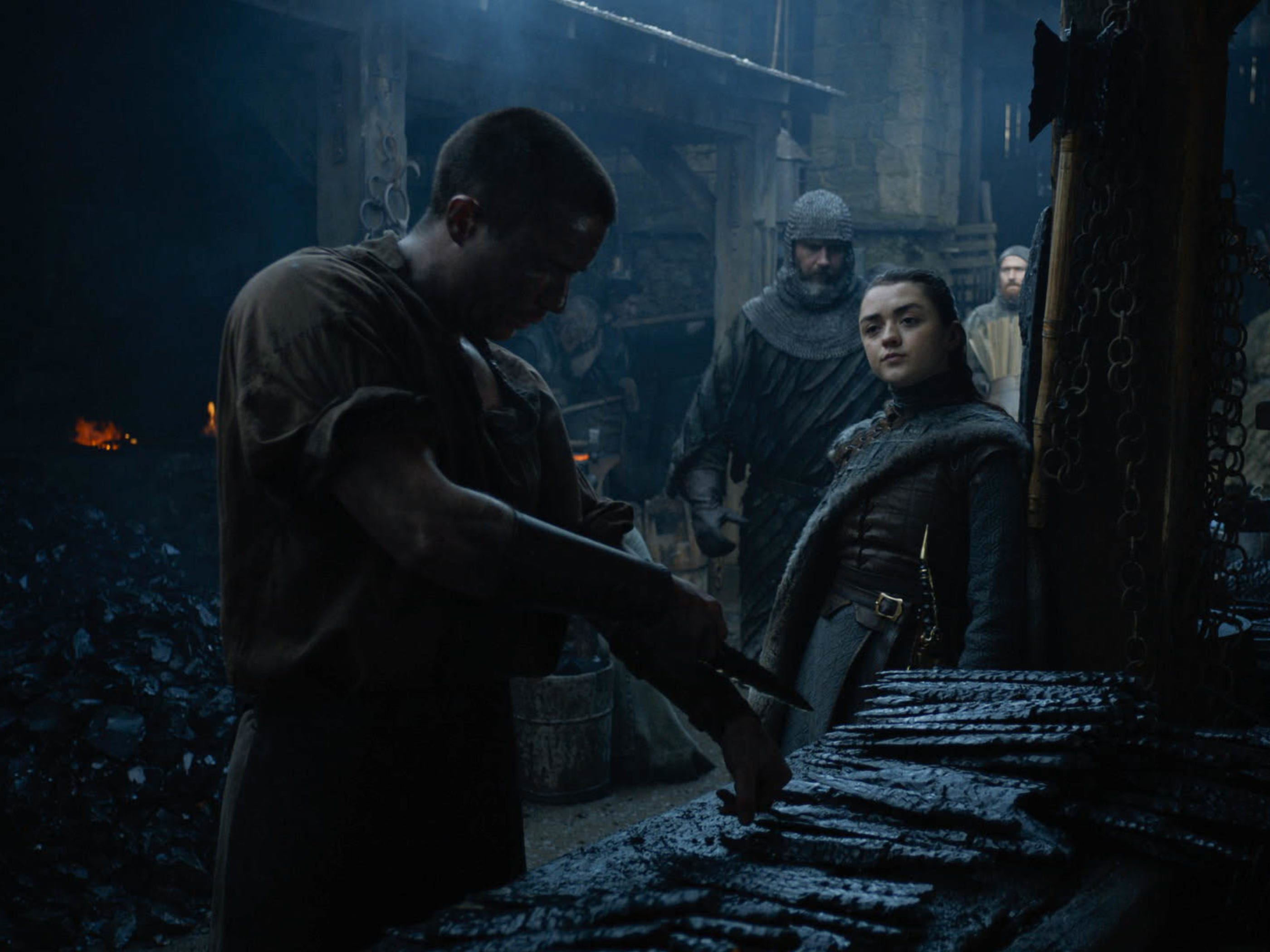 Joe Dempsie as Gendry, left and Maisie Williams as Arya Stark in 'Game of Thrones.'