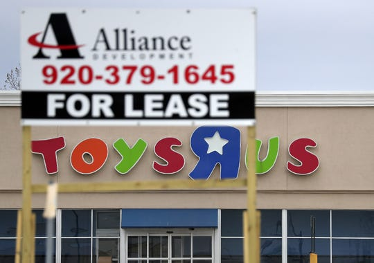 The former Toys R Us store in Grand Chute has been empty for nearly a year and is in the process of being sold to a developer.