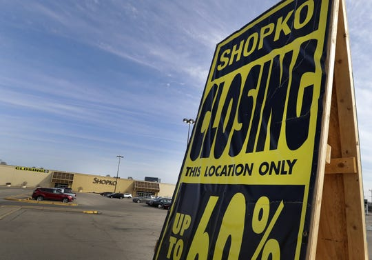 Shopko is closing four stores in the Fox Cities, including this branch in Kimberly.