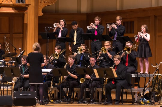 The Lawrence University Jazz Ensemble has been named the winner in the undergraduate Large Jazz Ensemble category in Downbeat magazine's 42nd annual Student Music Awards competition.