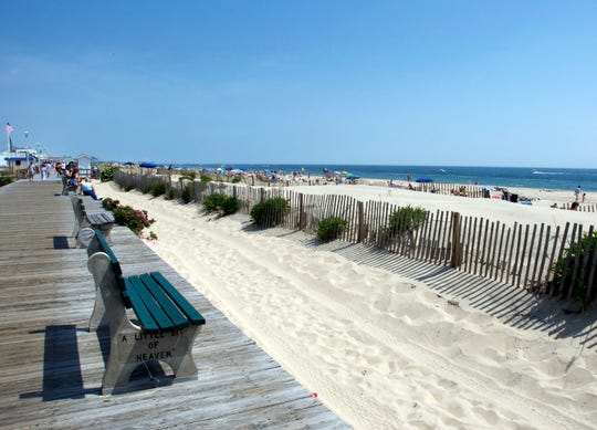 Jersey Shore Boardwalk Beach Scenic