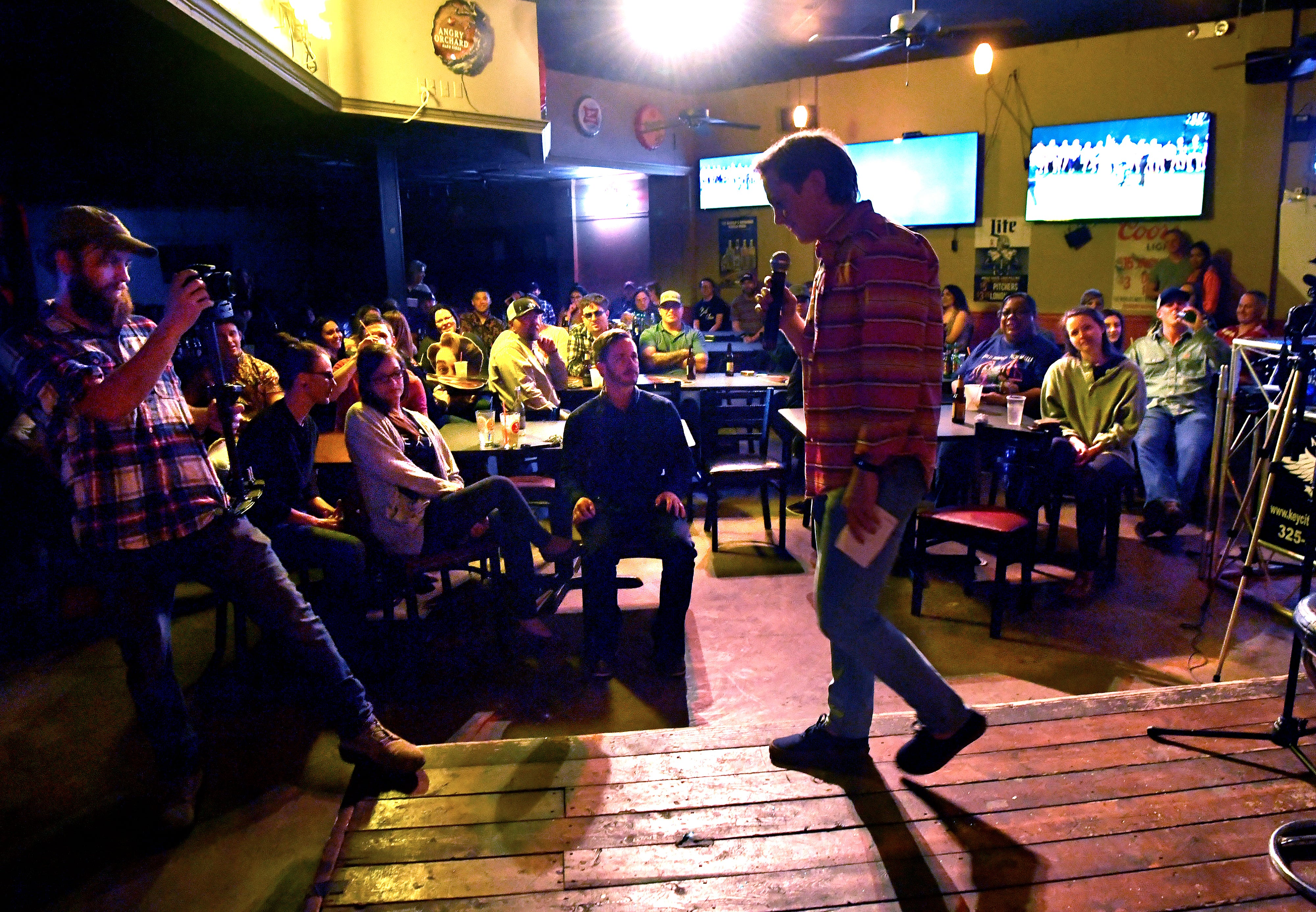 Shelton Holmes performs a set at The Zone Bar & Grill during Open Mic Comedy Night. The amateur stand-up was open to all-comers. The next event is 9 p.m. May 24.