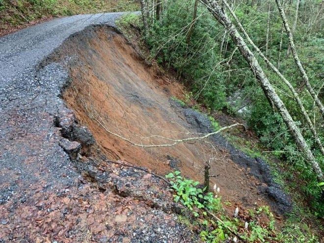 Forest Service Road 4650 in Jackson County, which leads to the Wayehutta OHV Trail area, has been closed since April 20 due to a landslide.
